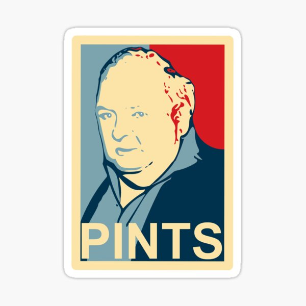 Paddy Losty - Pints - Pintman - Obama Parody Sticker