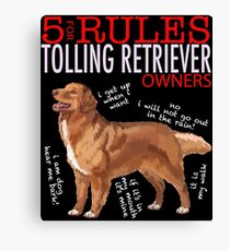 5 Rules for Retriever Owners Canvas Print