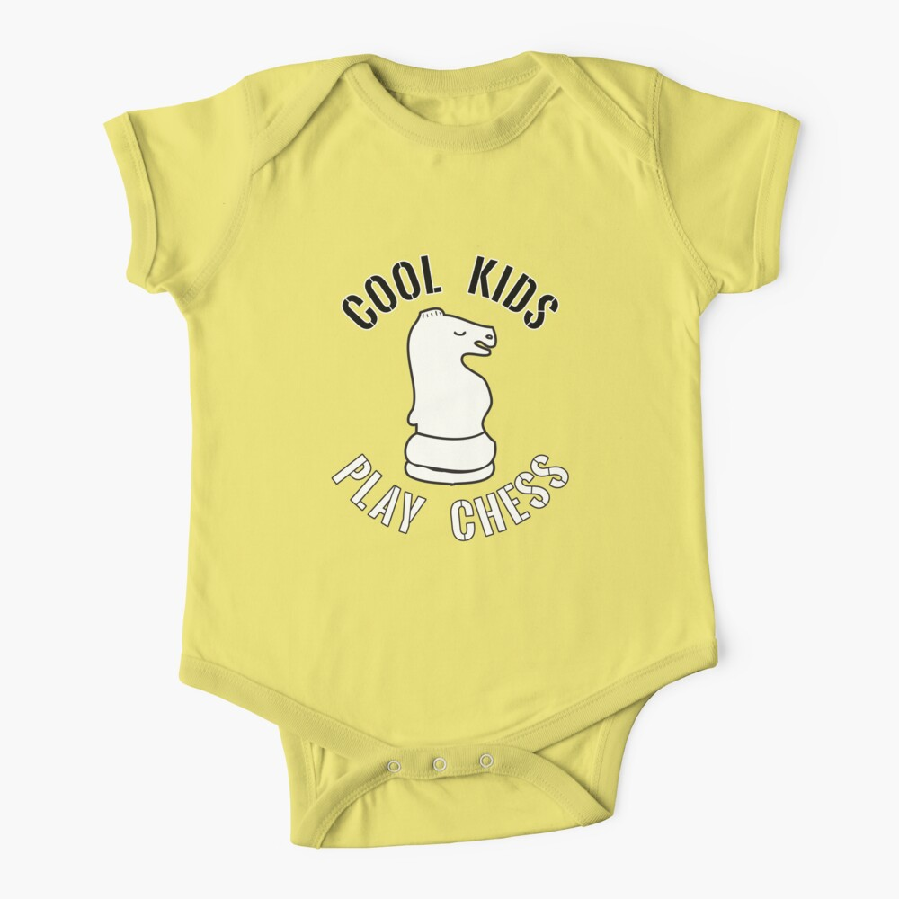 Cool Kids Play Chess Knight Piece - Cool Chess Club Gift Baby One-Piece