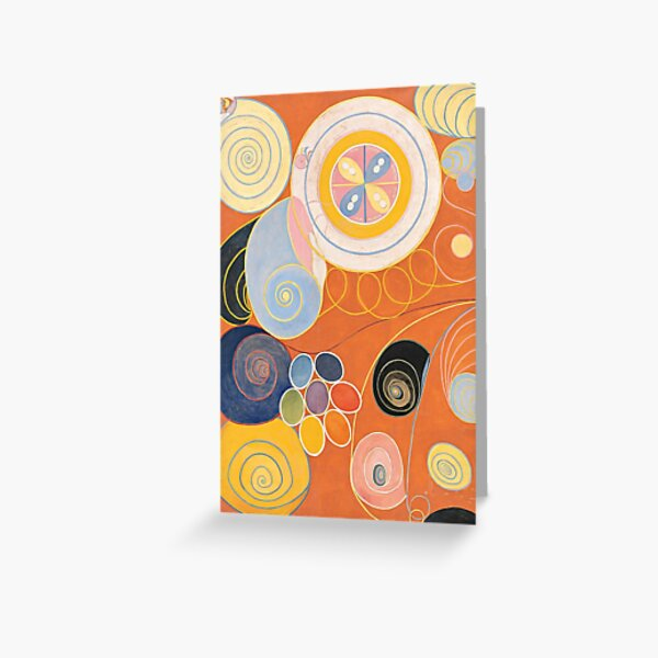 Hilma af Klint Group IV, No. 3. The Ten Largest, Youth 1907 Greeting Card