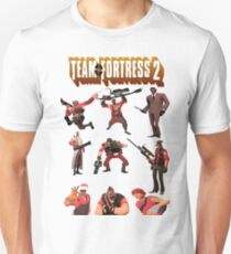 Team Fortress 2 - All Characters / Classes with TF2 Logo Unisex T-Shirt