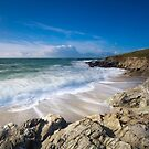 Little Fistral beach Cornwall by eddiej