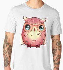 Cute Pink Owl  Men's Premium T-Shirt