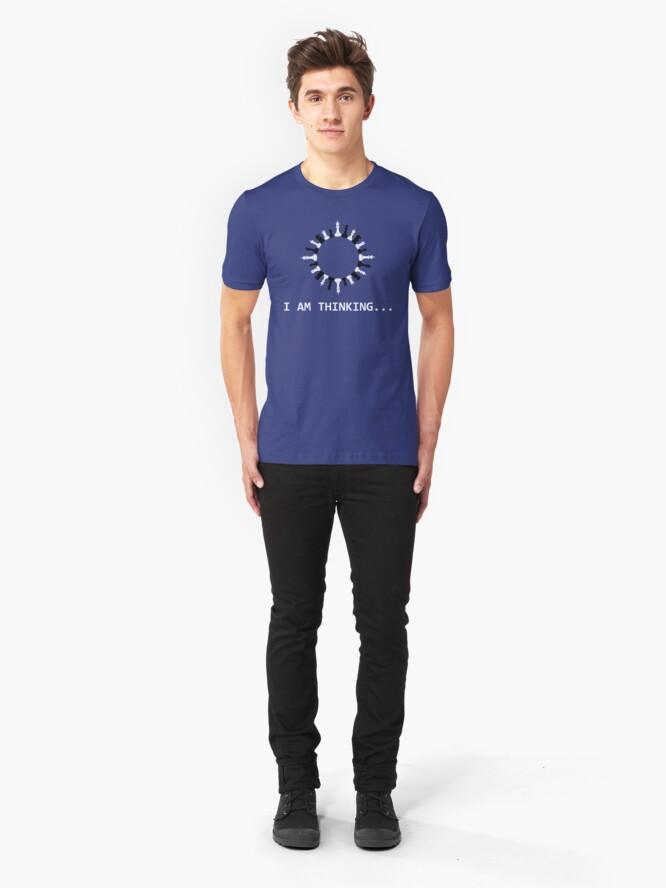 Alternative Ansicht von I Am Thinking Chess Pieces - Cool Chess Club Gift Slim Fit T-Shirt