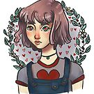 Sweet valentine portrait heart eyes by Wieskunde