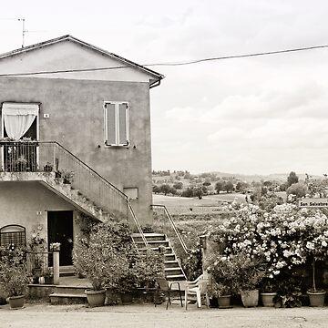 Italian country life by FlatLandPrints