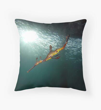 Seadragons & Sunshine Throw Pillow