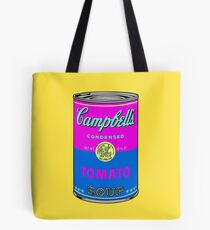 Andy Warhol pop art campbell soup can print Tote Bag