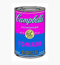 Andy Warhol pop art campbell soup can print Photographic Print