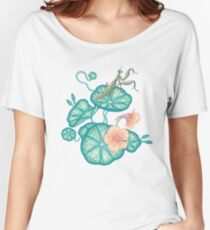 Mantises and Indian cress  Women's Relaxed Fit T-Shirt