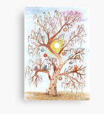 Enchanted Tree Watercolor Illustration Canvas Print