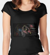 Artistic portrait drawing Women's Fitted Scoop T-Shirt