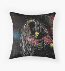 Artistic portrait drawing Throw Pillow