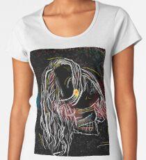 Artistic portrait drawing Women's Premium T-Shirt