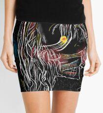 Artistic portrait drawing Mini Skirt