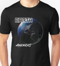 'Earth Americas' Cool Photography  Unisex T-Shirt