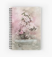 Cherry Blossom Bonsai Love in WaterColour Spiral Notebook