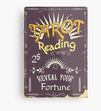 Tarot Reading Chalk poster Metal Print