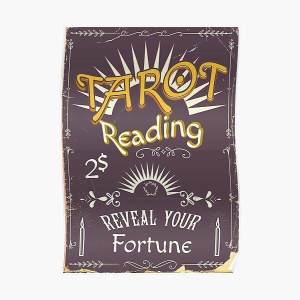Tarot Reading Chalk poster Poster