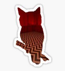 Owl (Twin Peaks) color Sticker
