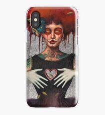 Muertos Day of the dead heartless Sylvia Lizarraga iPhone Case/Skin