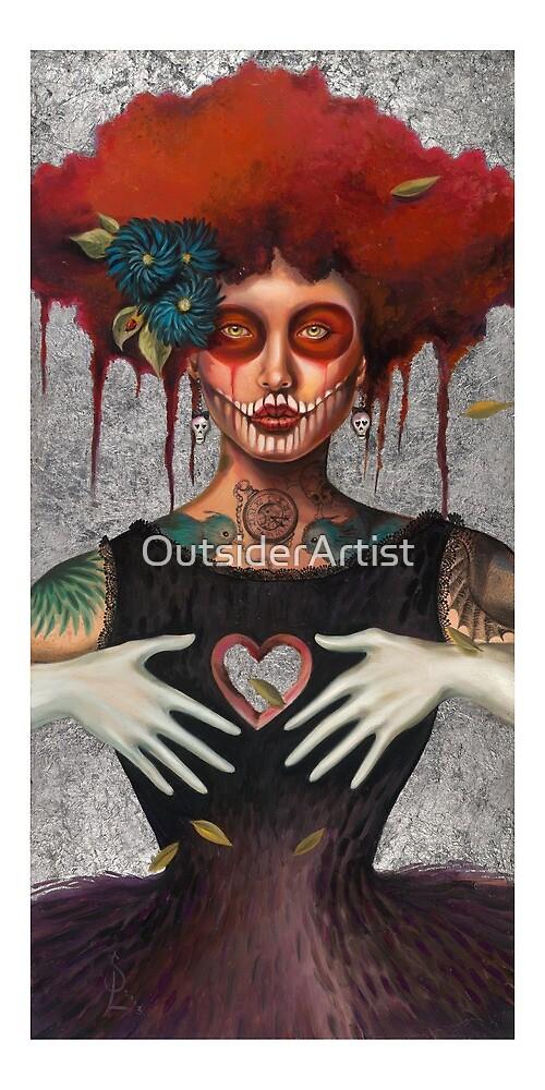 Muertos Day of the dead heartless Sylvia Lizarraga by Sylvia Lizarraga