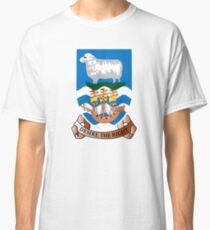 Coat of Arms of Falkland Islands  Classic T-Shirt
