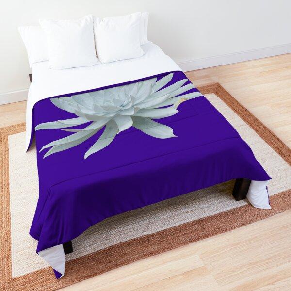 White Succulent Comforter
