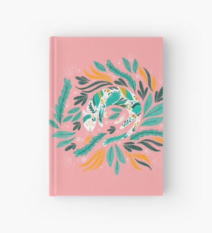 Floral Kitty Hardcover Journal