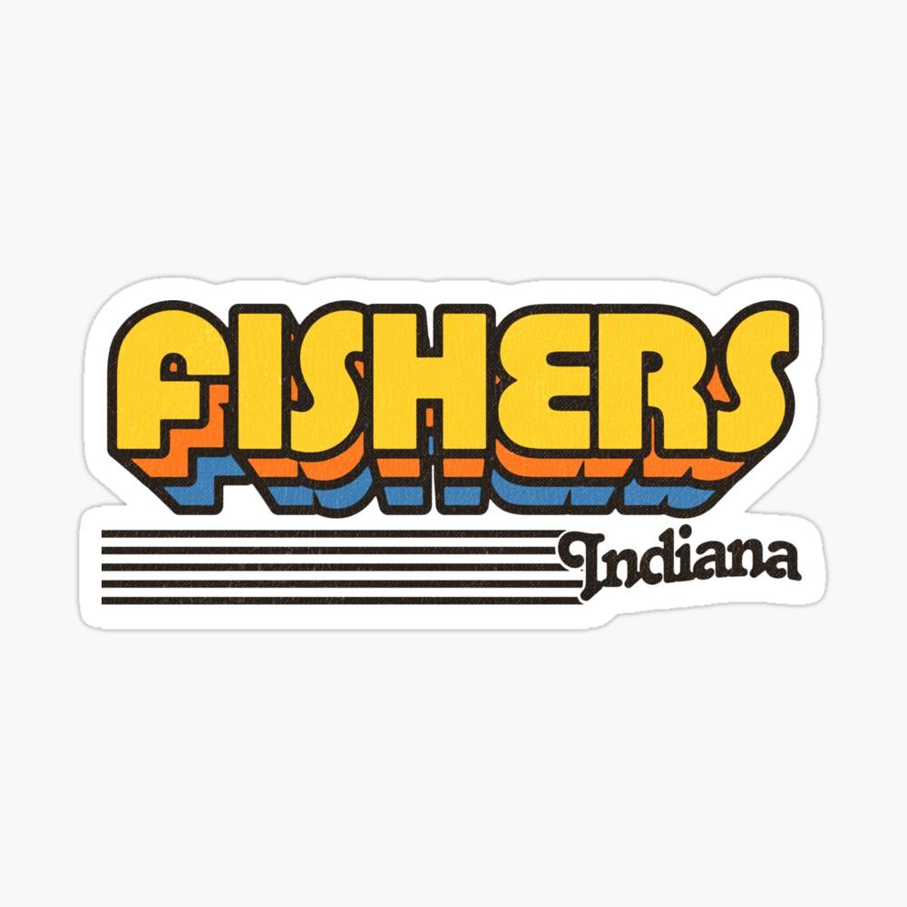 Fishers, Indiana | Retro Stripes Sticker