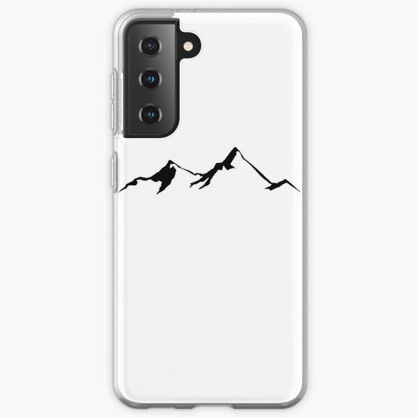 Ski Skiing Mountain Mountains Skiing Skis Silhouette Snowboard Snowboarding Samsung Galaxy Soft Case