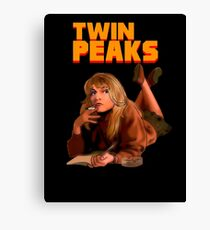 Twin Peaks Fiction (Pulp Fiction parody) Canvas Print