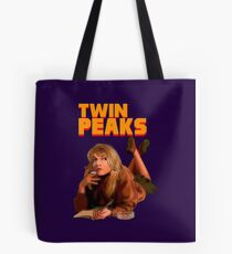 Twin Peaks Fiction (Pulp Fiction parody) Tote Bag