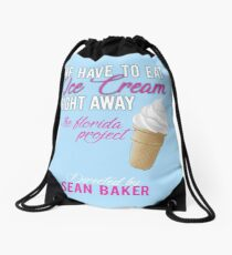 We Need to Have Ice Cream right away! Drawstring Bag