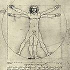 Vitruvian Man by Leonardo Da Vinci, Circa 1490 by artfromthepast