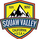 Skiing Squaw Valley California Ski Mountains Snowboarding by MyHandmadeSigns