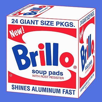 Andy Warhol Brillo Box print sticker by jasmineGold