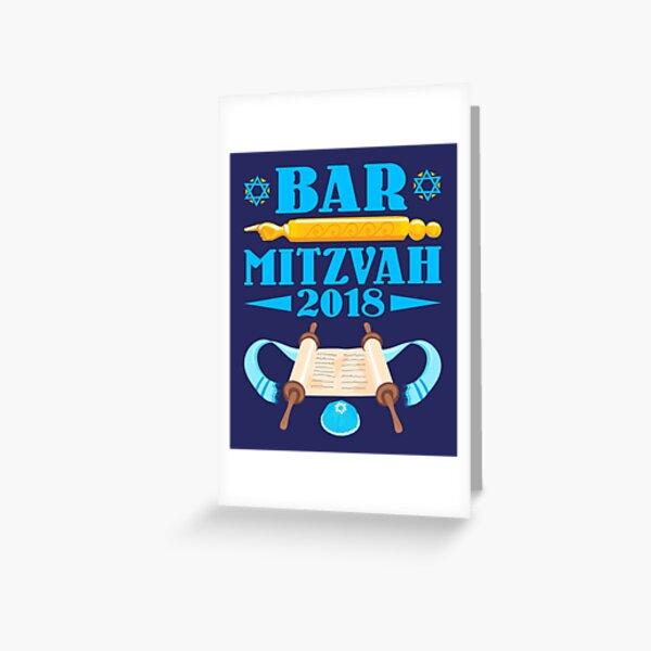 Bar Mitzvah 2018 Tarjetas de felicitación