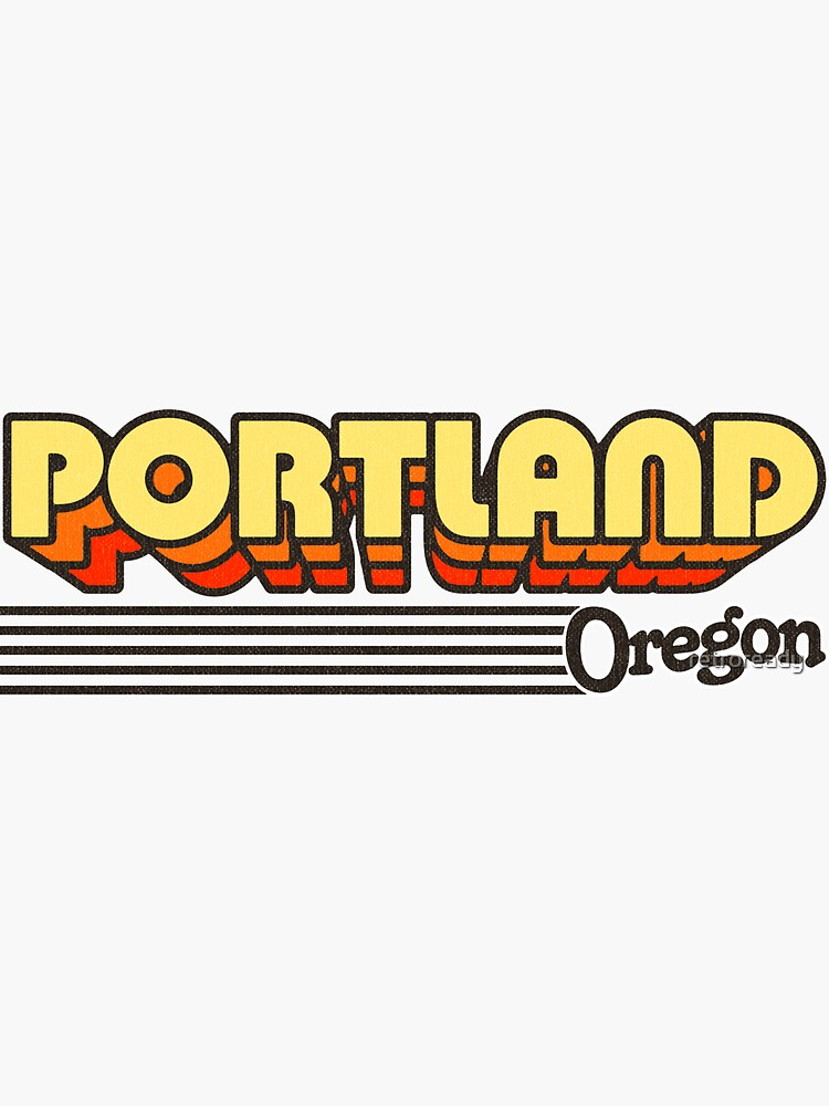 Portland, Oregon | Retro Stripes by retroready