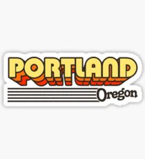 Portland, Oregon | Retro Stripes Sticker