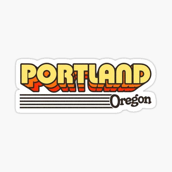 Portland, Oregon | Retro Stripes Sticker