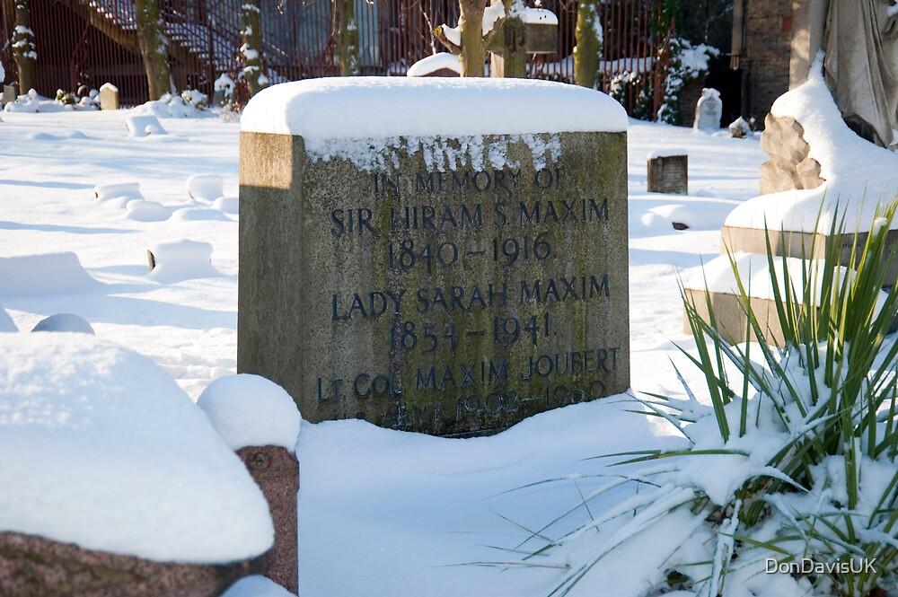 Machine Gun Maxim's Grave by DonDavisUK