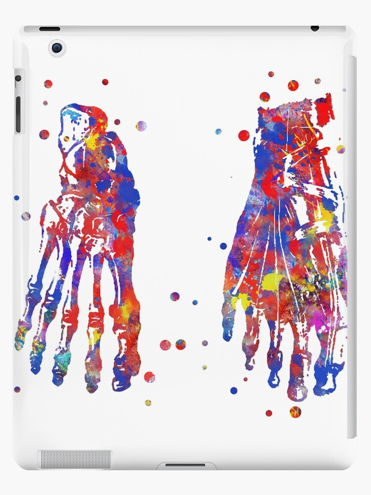 Vinilos y fundas para iPad «Huesos de los pies, anatomía de los ...