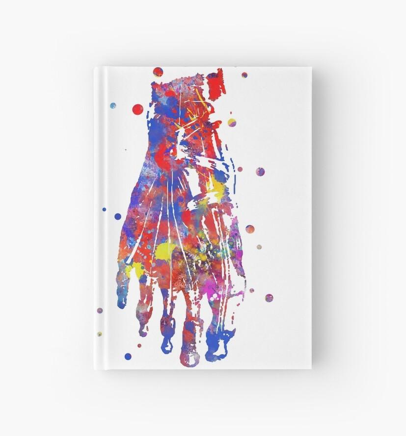 Cuadernos de tapa dura «Huesos de los pies, anatomía de los huesos ...
