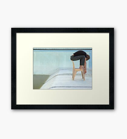 Learning to Dive Framed Print