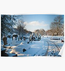 West Norwood Graveyard Winter Vista Poster