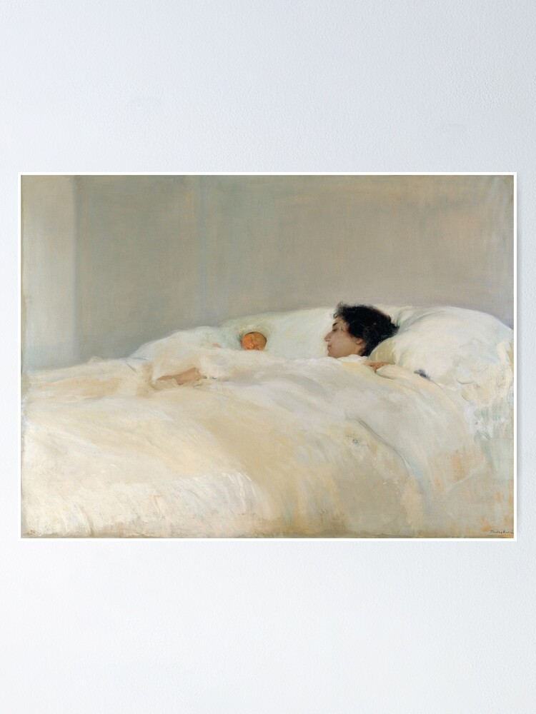 Alternate view of Mother by Joaquin Sorolla, 1895  Poster