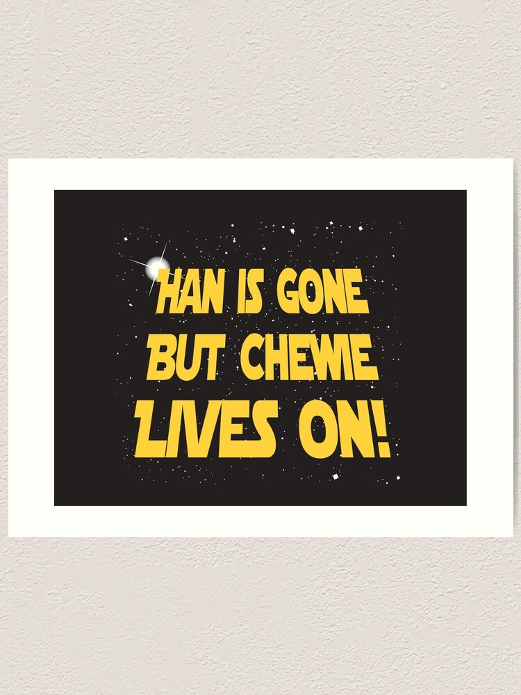Wall Art Home Decor Han Solo and Chewbacca Star Wars Poster Print Gift