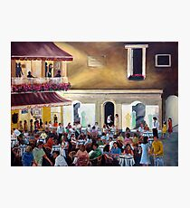 `Al Piccolo Bar' at night - in Piazza Umberto - Capri Photographic Print