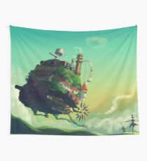 Howls Moving Castle (Studio Ghibli) Wall Tapestry